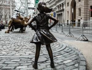 charging bull fearless girl